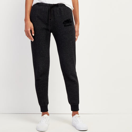 Roots-Sweats Sweatpants-Slim Cuff Sweatpant - Short-Black Pepper-A