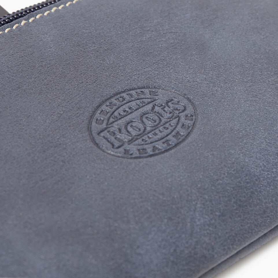 Roots-Leather New Arrivals-Medium Zip Pouch-Navy-D