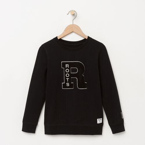 Roots-Kids Sweats-Boys Alumni Crew-Black-A