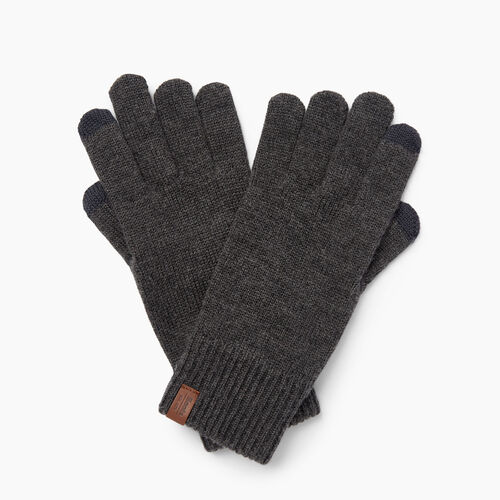 Roots-Clearance Women-Dorval Texting Glove-Charcoal Mix-A