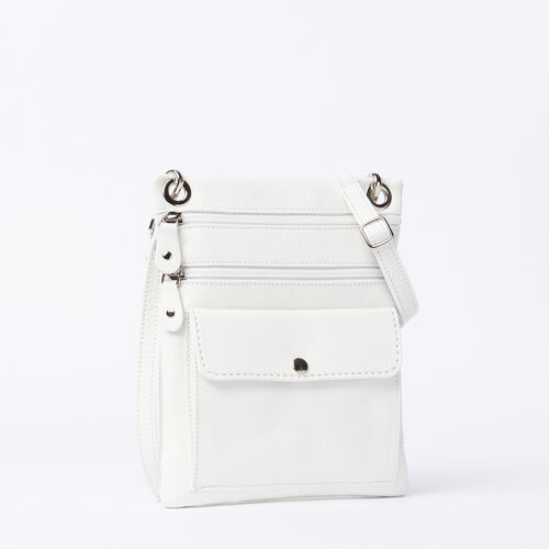 Roots-Women Roots Original Flat Bags-Urban Pouch Prince-White-A