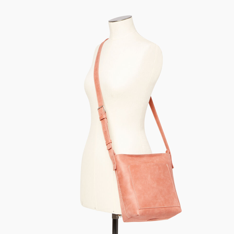 Roots-Leather Handbags-Rideau Crossbody-Canyon Rose-B