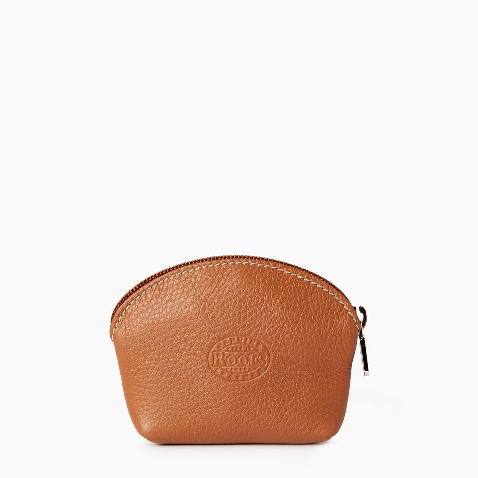 Roots-Leather Categories-Small Euro Pouch-Caramel-B