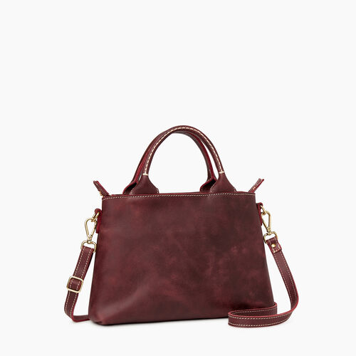 Roots-Leather Collections-City Mont Royal Bag-Crimson-A