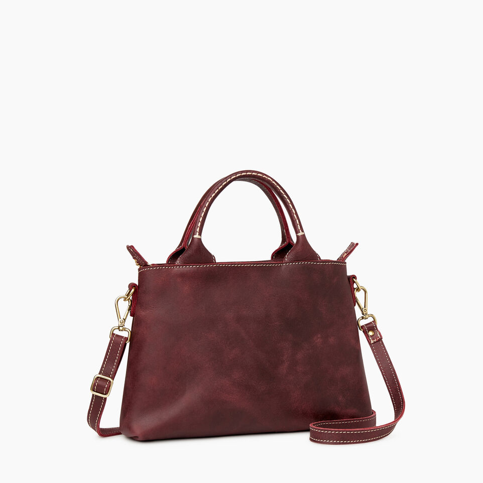 Roots-Articles En Cuir Sacs Style Urbain-Sac City Mont-Royal-Cramoisi-A
