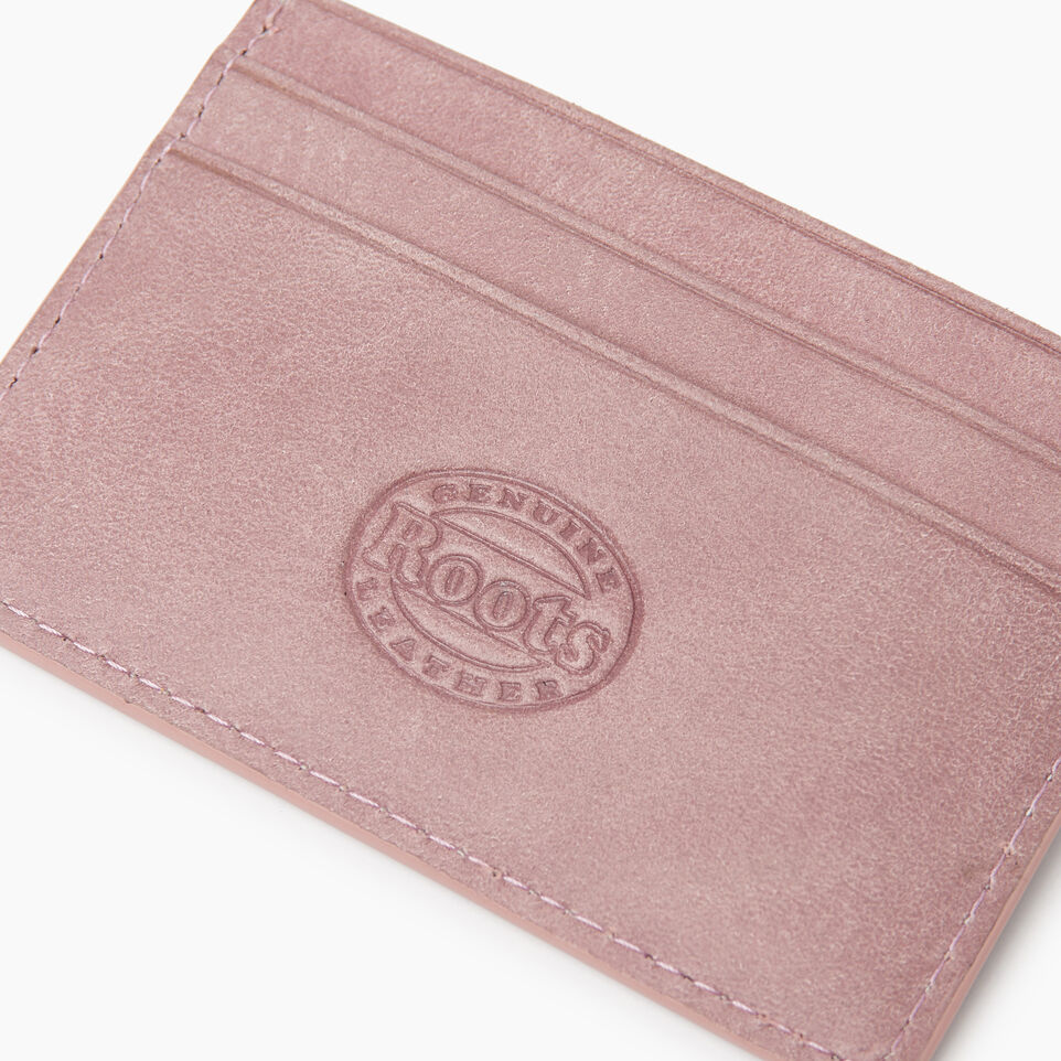 Roots-Leather New Arrivals-Card Holder Tribe-Woodrose-E