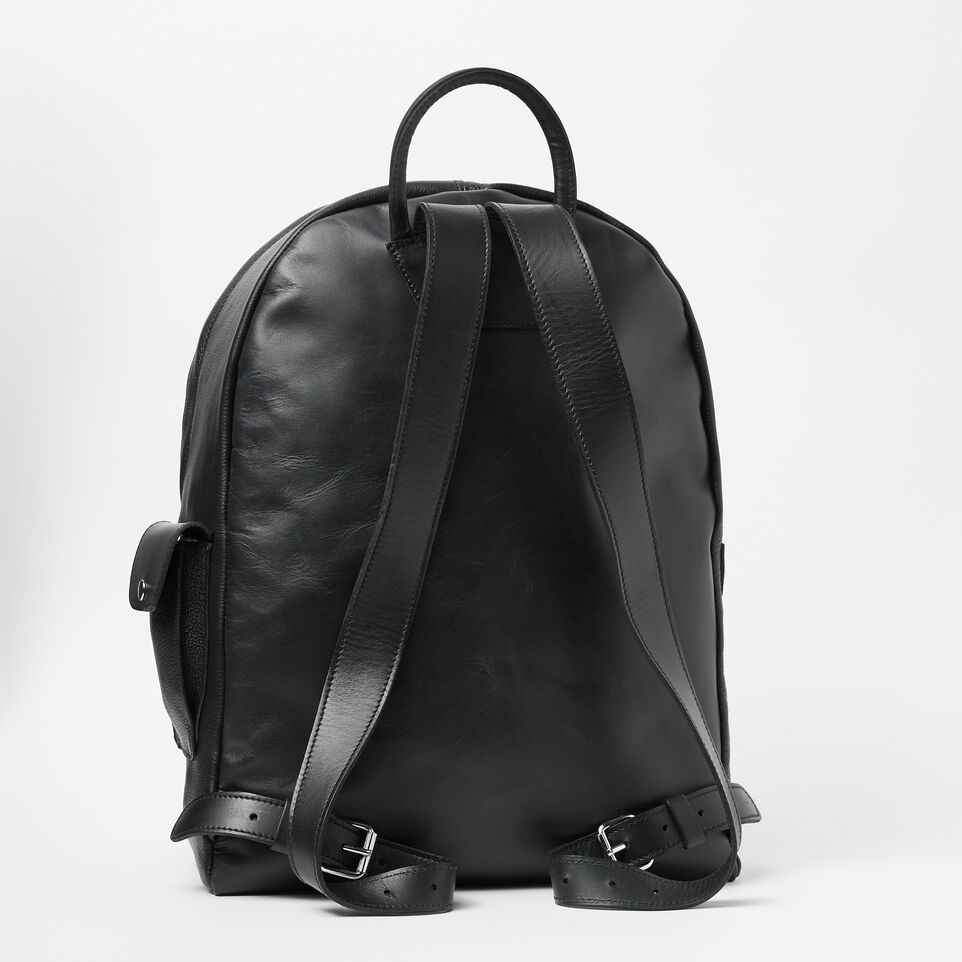 Roots-Leather Backpacks-Student Pack Prince-Black-C