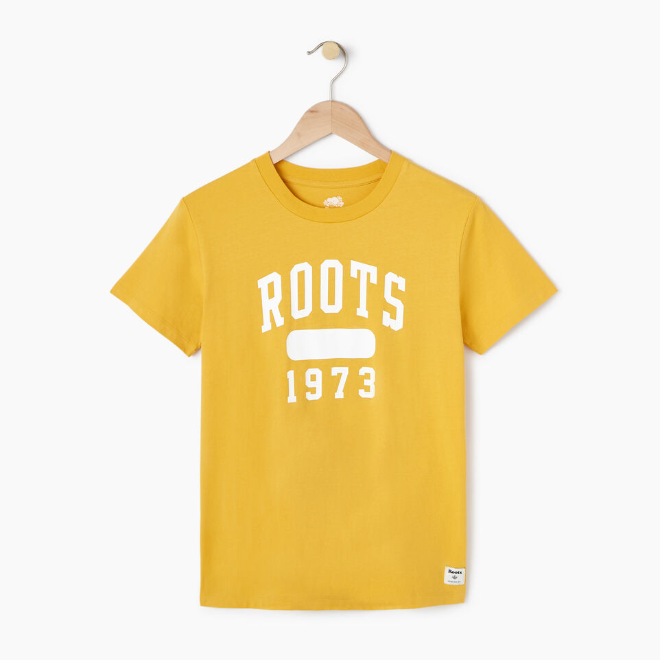 Roots-New For March Daily Offer-Womens Block 1973 Canada T-shirt-Medallion-A