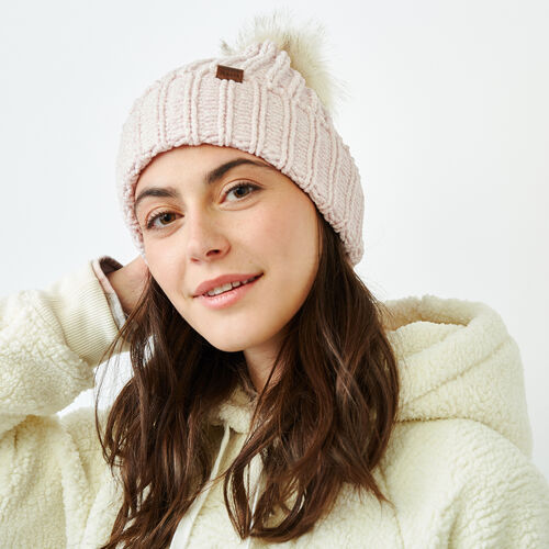 Roots-Women Categories-Chenille Pom Pom Toque-Fragrant Lilac Ppr-A