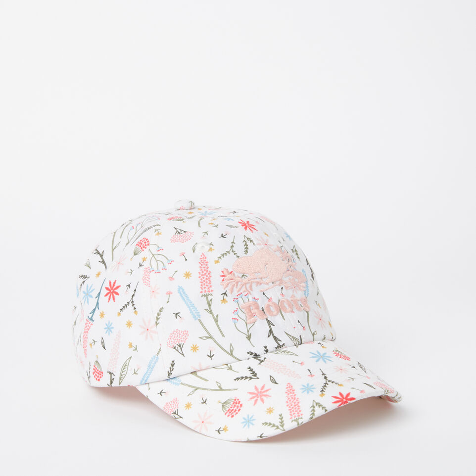 Roots-undefined-Girls Cooper Floral Baseball Cap-undefined-A