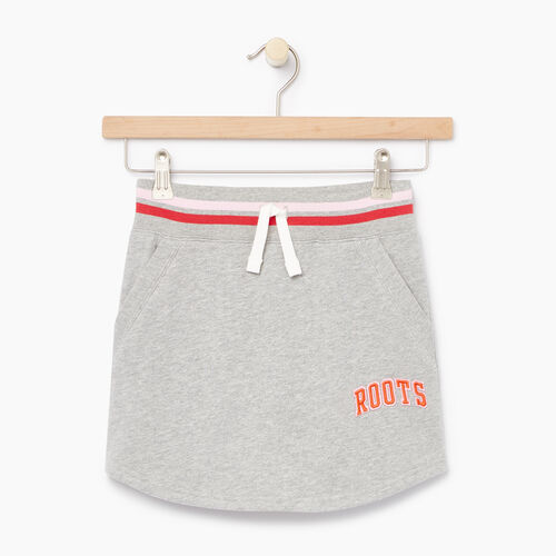 Roots-Clearance Kids-Girls Roots Varsity Skirt-Grey Mix-A