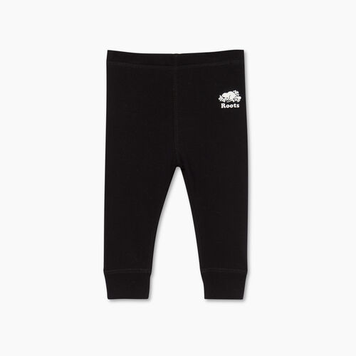 Roots-Kids Bottoms-Baby Cozy Fleece Legging-Black-A
