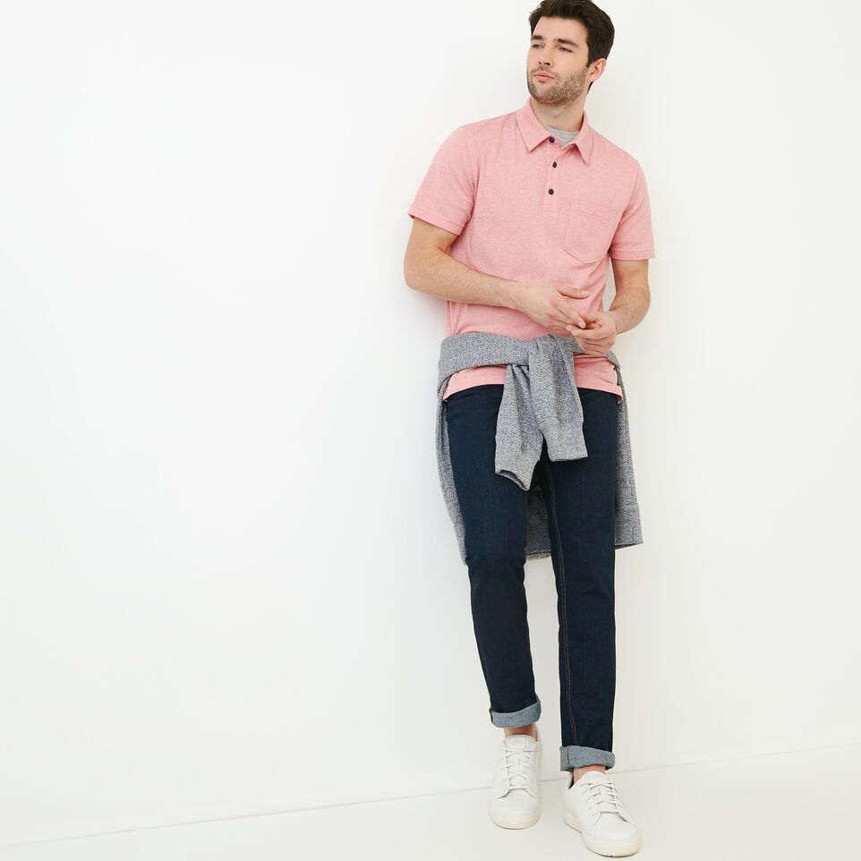 Roots-Men Our Favourite New Arrivals-Jersey Peppered Polo-Pink Pepper-B