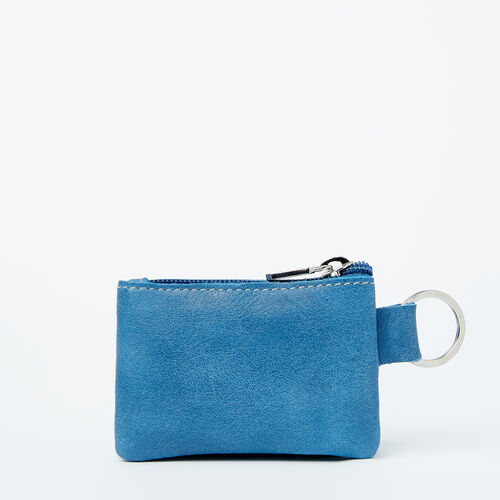 Roots-Leather Leather Pouches-Top Zip Key Pouch Tribe-Infinity-A