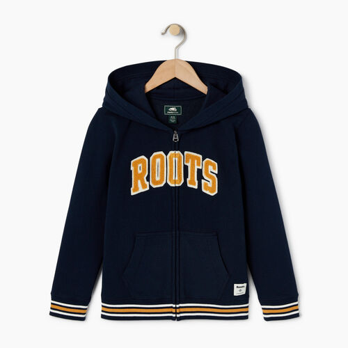 Roots-Kids Categories-Boys Roots Varsity Full Zip Hoody-Navy Blazer-A