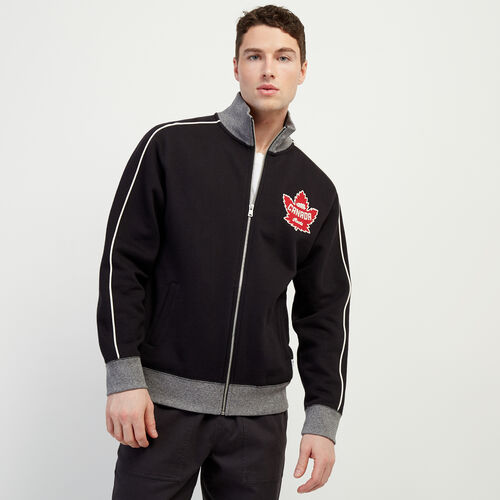 Roots-New For January Canada Collection By Roots™-Mens Canada Full Zip Mock-Black-A