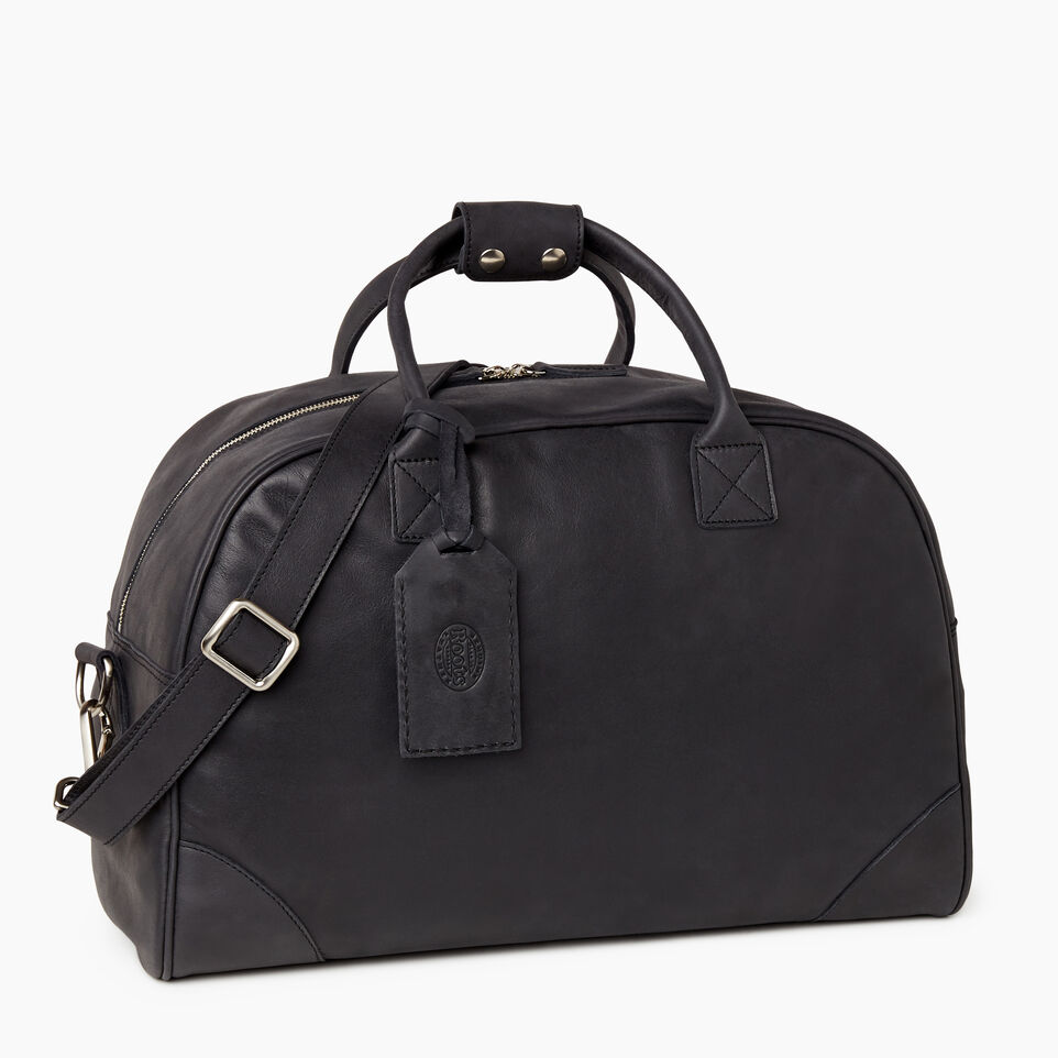 Roots-Leather Collections-Jasper Gym Bag-Jet Black-A