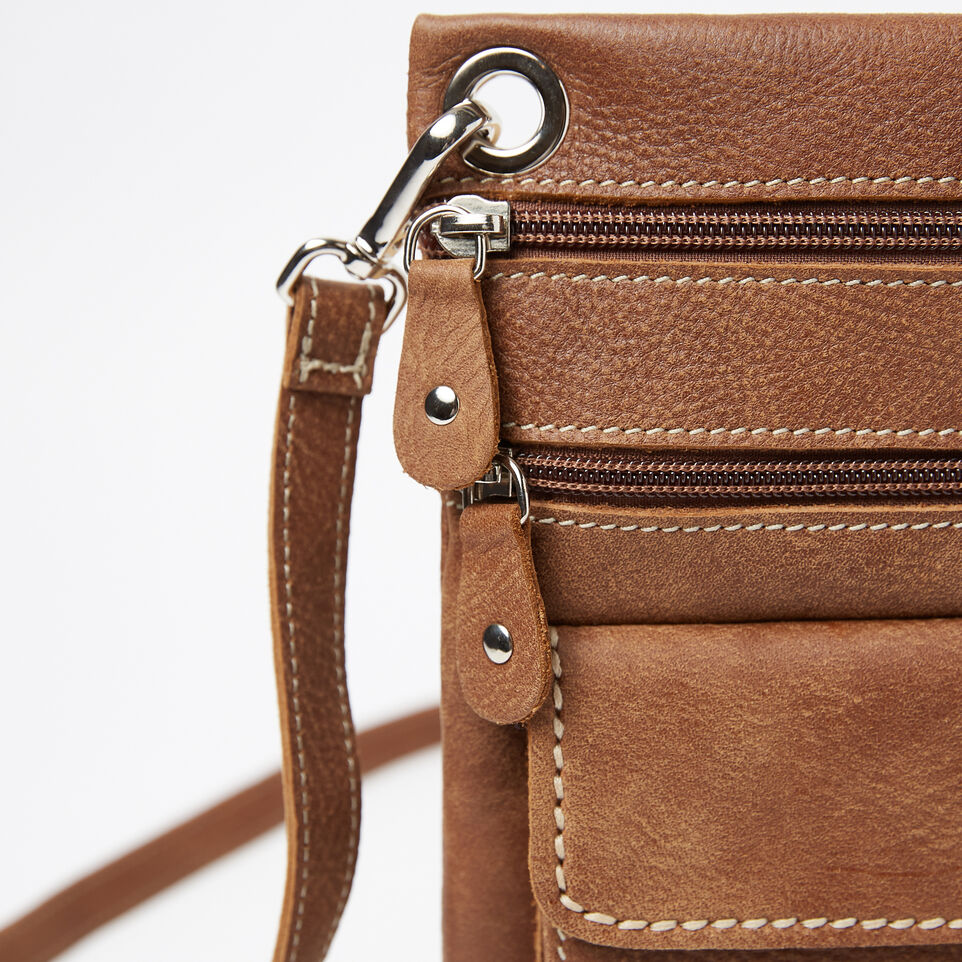 Roots-Leather Handbags-Urban Pouch-Natural-D