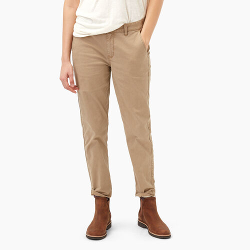 Roots-Women Bottoms-Cornerbrook Chino Pant-Tannin Beige-A