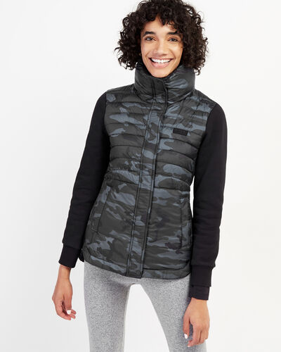 Roots-New For February Journey Collection-Journey Hybrid Jacket-Black Camo-A