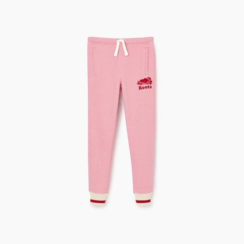 Roots-Kids Our Favourite New Arrivals-Girls Roots Cabin Cozy Sweatpant-Cashmere Rose Pepper-A