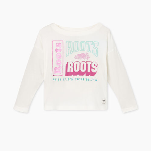 Roots-Sale Toddler-Toddler Stacked T-shirt-Ivory-A