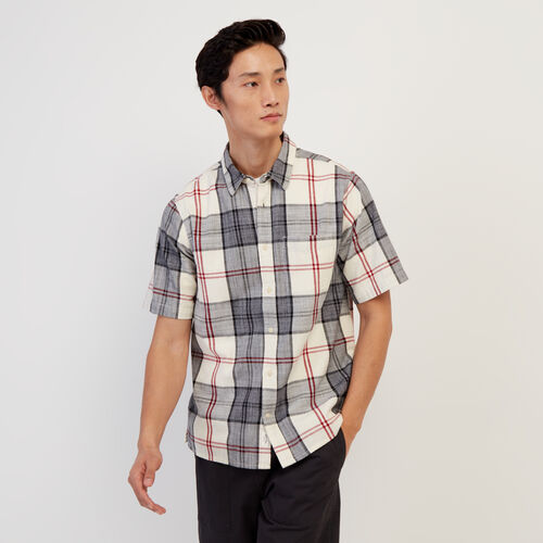 Roots-Sale Tops-Smoke Lake Plaid Shirt-Birch White-A