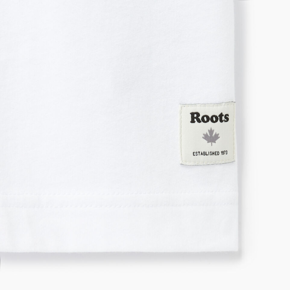 Roots-New For August Men-Mens Brushed Arch T-shirt-Crisp White-C