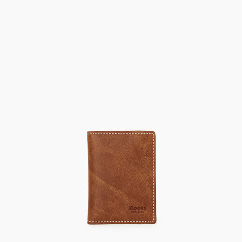 Roots-Leather Tech & Travel-Card Case With Id-Natural-A