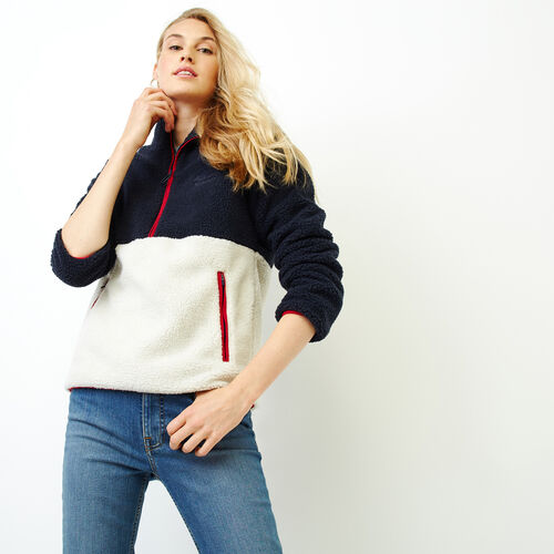 Roots-Women Our Favourite New Arrivals-Colourblock Sherpa Stein-Light Fog-A