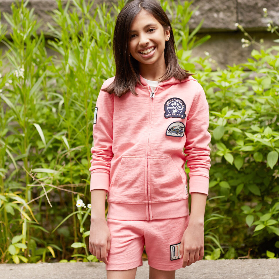 Roots-undefined-Girls Camp Patch Full Zip Hoody-undefined-A