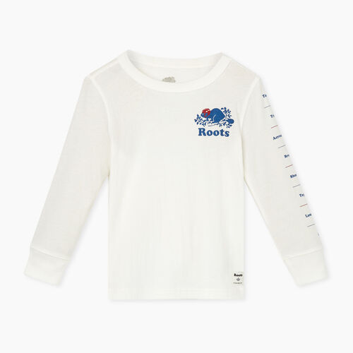 Roots-Sale Toddler-Toddler Roots Hockey T-shirt-Ivory-A