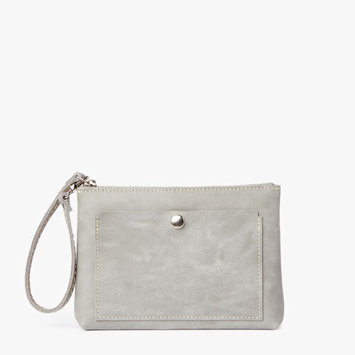 Roots-Leather  Handcrafted By Us Our Favourite New Arrivals-Riverdale Pouch-Quartz-A