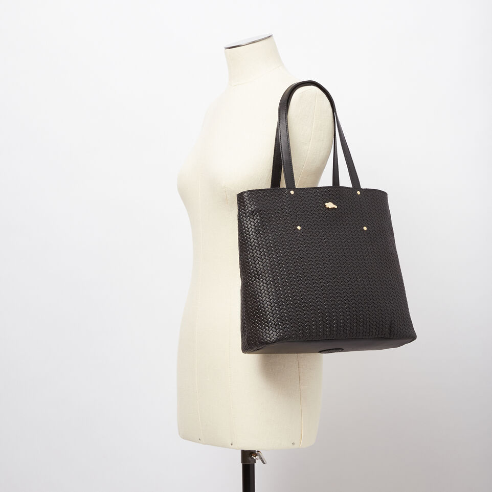 Roots-undefined-Downtown Zip Tote Woven Tribe-undefined-B