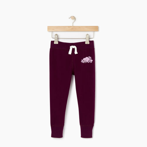 Roots-Kids Bottoms-Toddler Cozy Fleece Sweatpant-Pickled Beet-A
