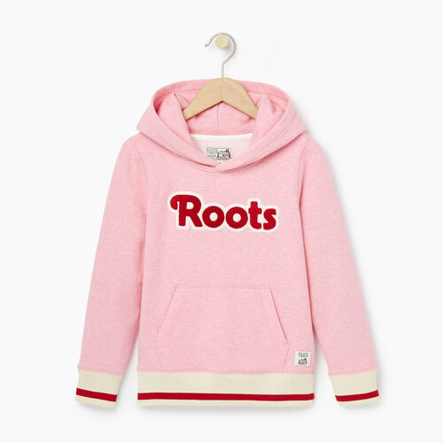 Roots-Kids Girls-Girls Cabin Kanga Hoody-Sea Pink Mix-A