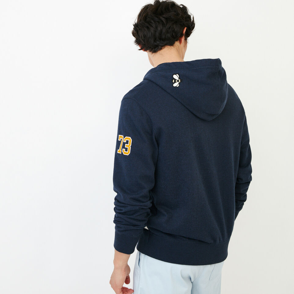 Roots-Men Our Favourite New Arrivals-Badges Full Zip Hoody-Navy Blazer Pepper-D