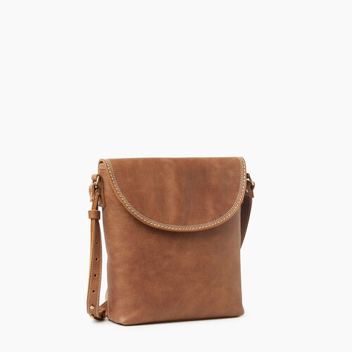 Roots-Leather Crossbody-Canmore Flat Tribe-Natural-A
