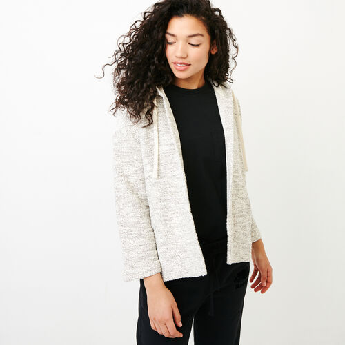 Roots-Women Sweaters   Cardigans-Fermont Open Cardigan-Turtledove Mix-A 019bab49b