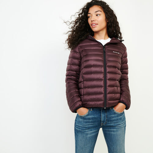 Roots-Women Outerwear-Roots Packable Down Jacket-Cabernet-A