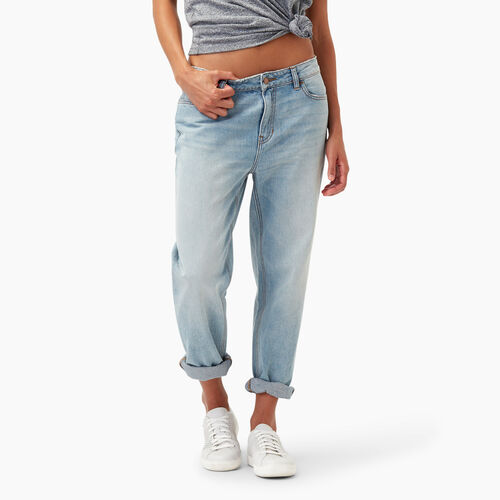 Roots-Women Bottoms-Aiden Boyfriend Jean-Bleached Denim-A