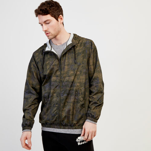 Roots-Men New Arrivals-Journey Windbreaker-Fatigue Camo-A