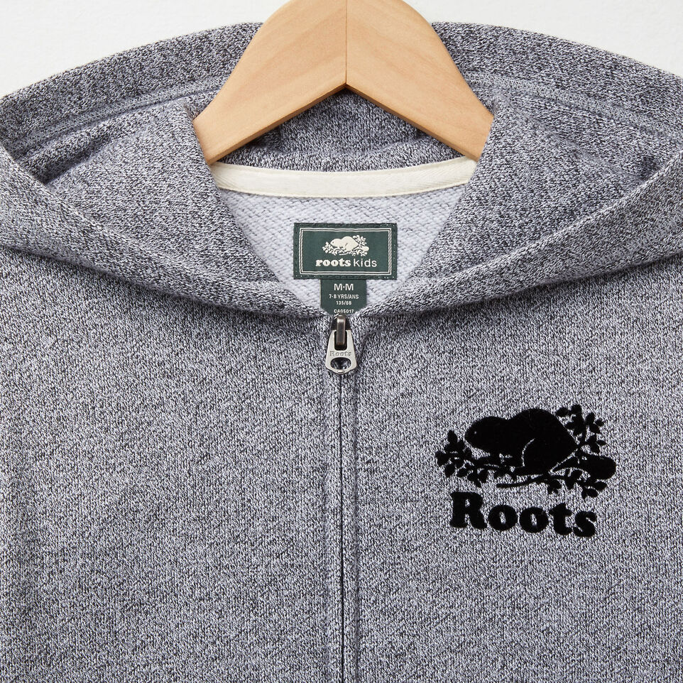 Roots-undefined-Boys Roots Salt and Pepper Original Full Zip Hoody-undefined-C
