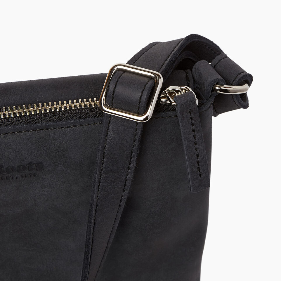 Roots-Leather Handbags-Riverdale Flat-Jet Black-E