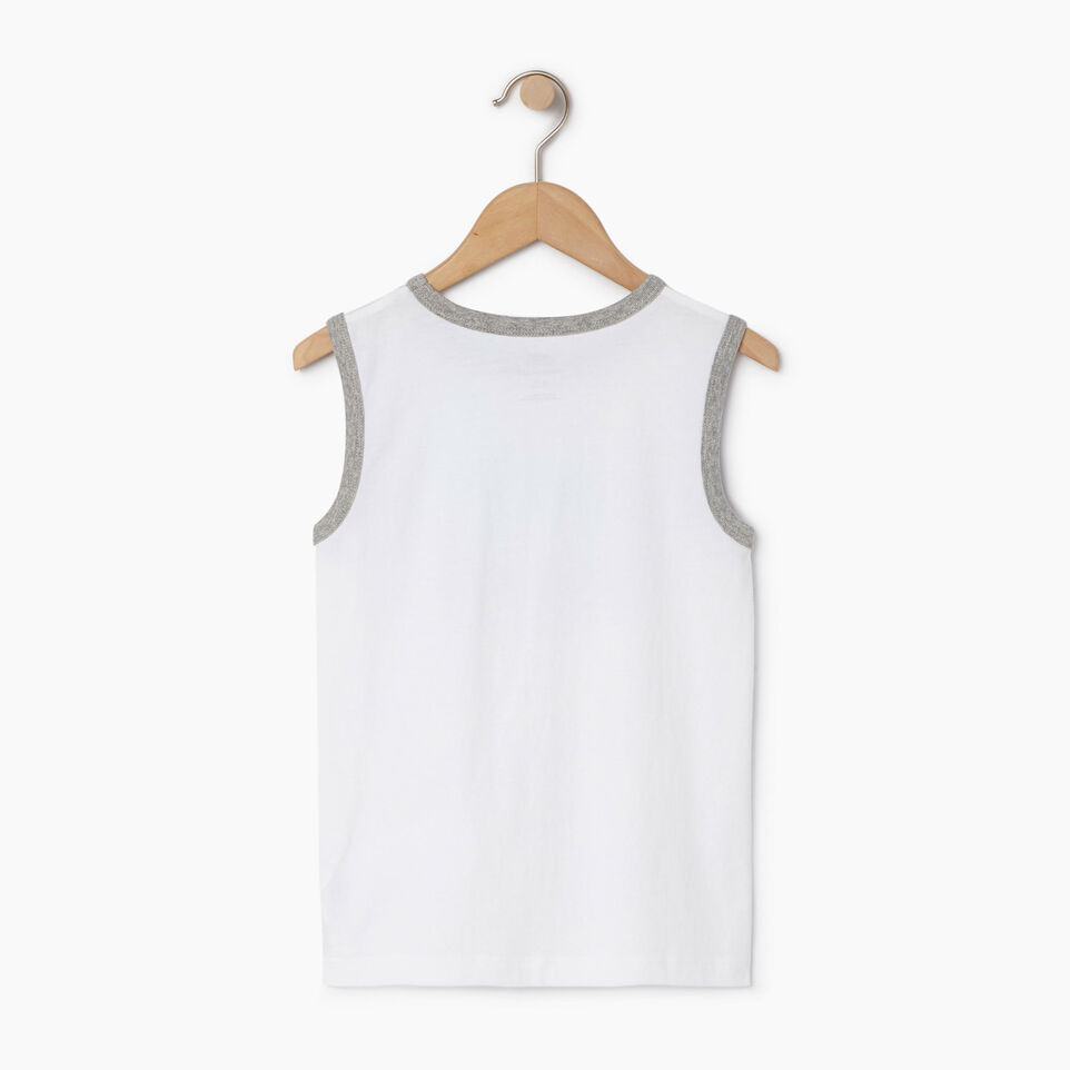 Roots-New For August Kids-Boys Gradient Cooper Beaver Tank-Ivory-B