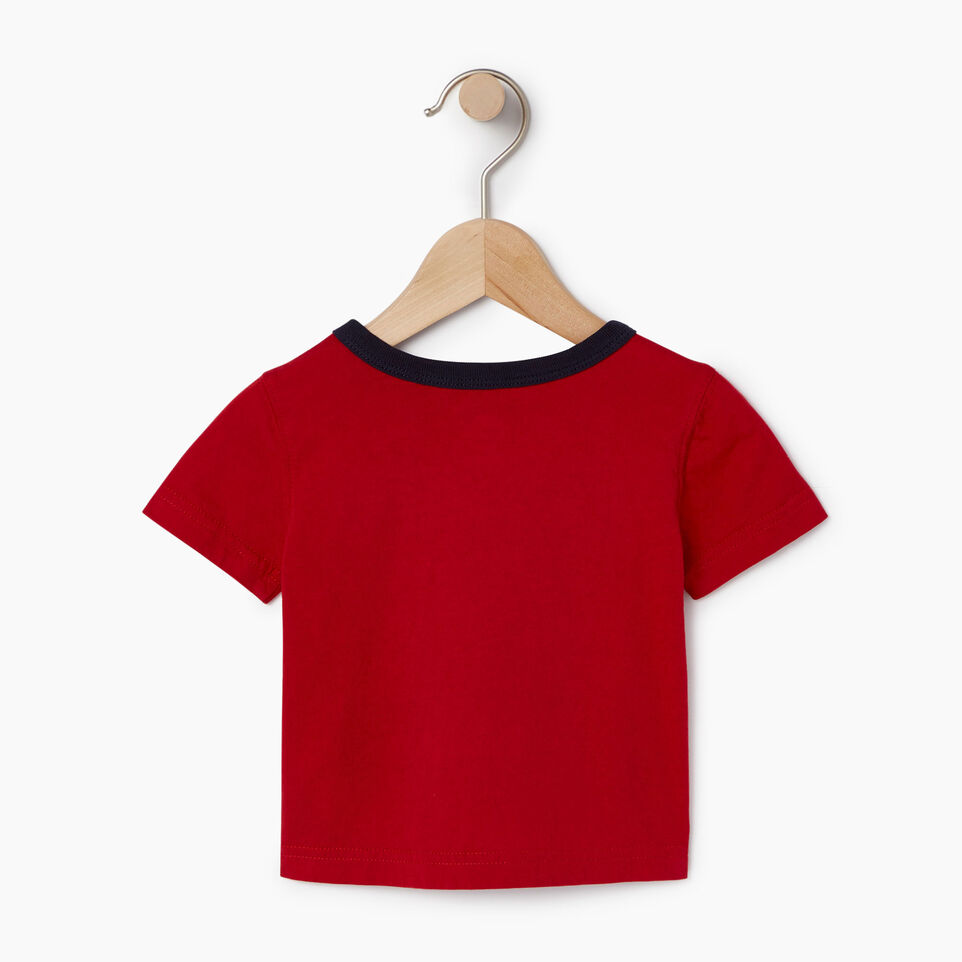 Roots-Kids Our Favourite New Arrivals-Baby Cooper Canada Ringer T-shirt-Sage Red-B