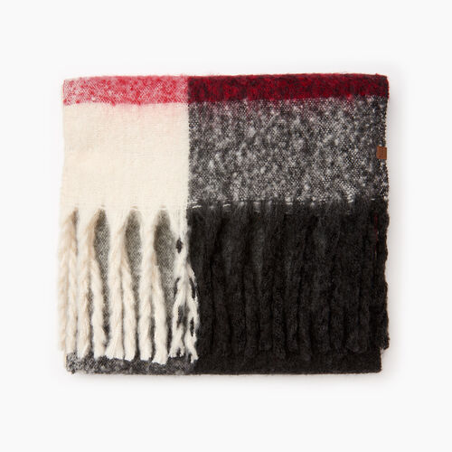 Roots-Women Categories-Roots Cabin Fluff Scarf-Cabin Plaid-A