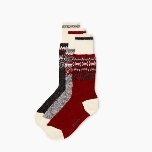 Roots-Women Socks-Roots Liza Cabin Sock 3 Pack-Multi-A