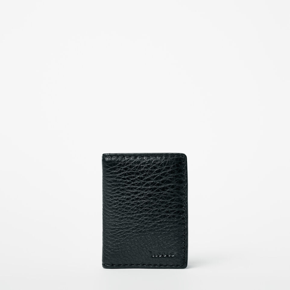 Roots-Men Wallets-Card Case With Id-Black-A