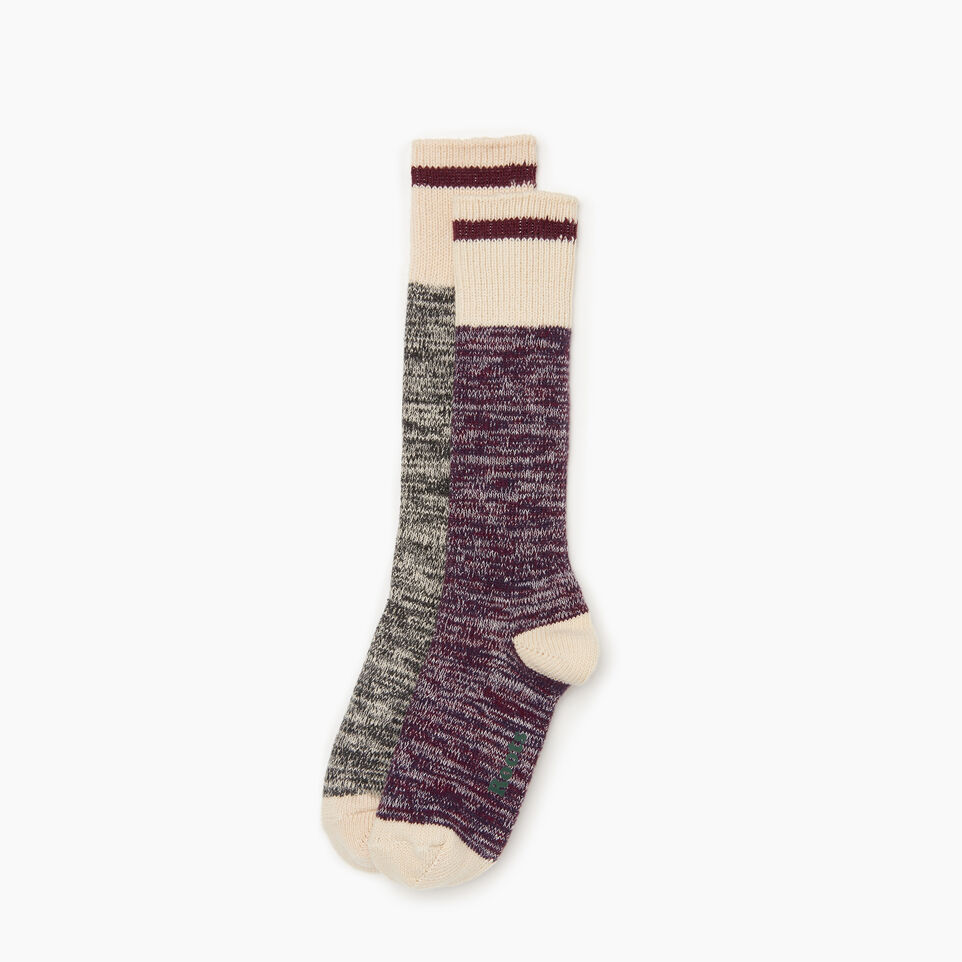 Roots-Women Clothing-Cotton Cabin Sock 2 pack-Purple-A